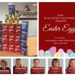Allstaff Recruitment Bedford deliver Easter Eggs to Children's Care Bedford