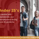 Allstaff Recruitment Bedford & Milton Keynes Under 25's hit hardest by unemployment during covid-19